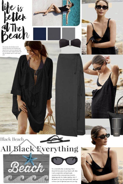 Life is Better at the Beach in Black
