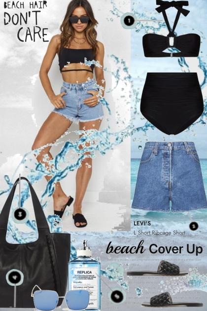 Denim Shorts Beach Cover Ups