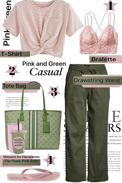 Pink and Green Casual
