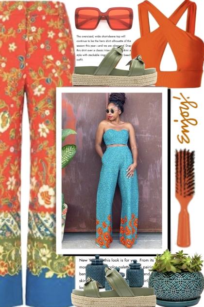 Enjoy Turquoise and Orange