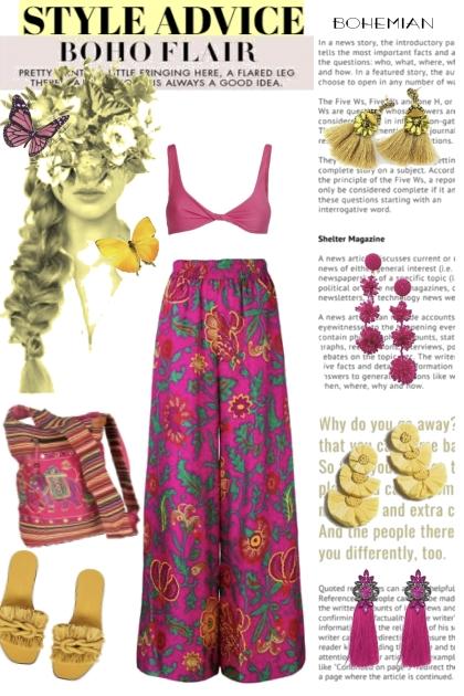 Style Advice Bohemian Raspberry and Yellow