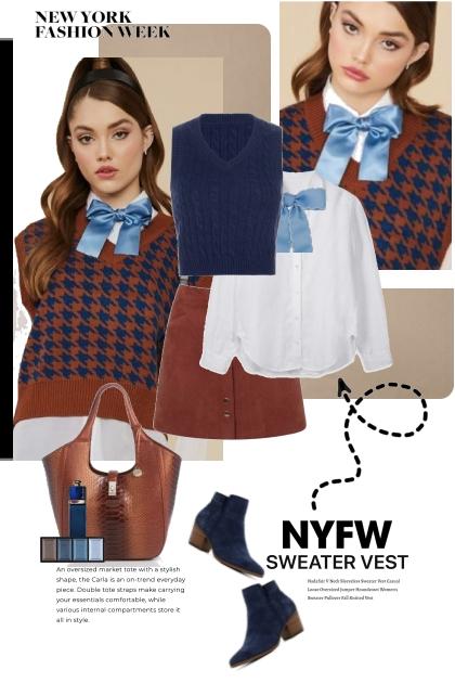 NYFW Sweater Vest Trend