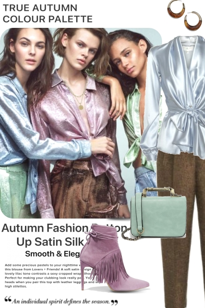 True Autumn with Fun Colors- Fashion set