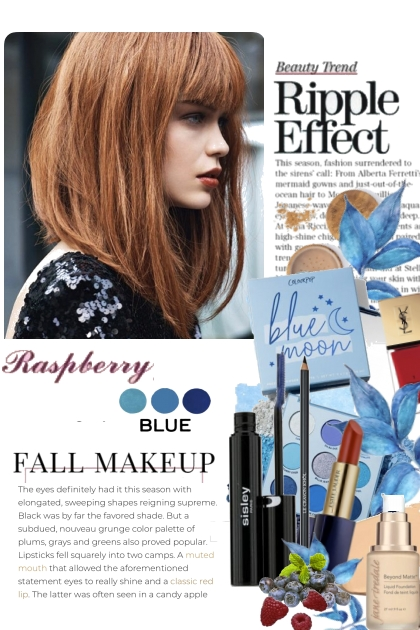 Raspberry and Blue Fall Makeup
