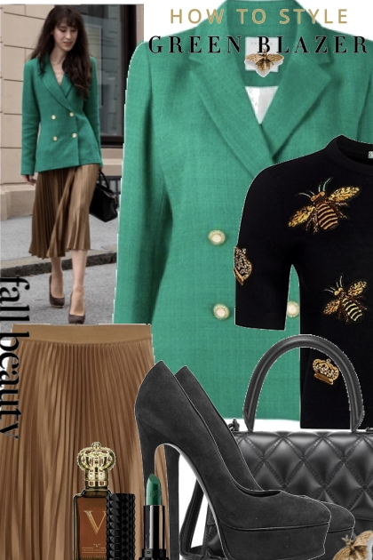How To Style Green Blazer