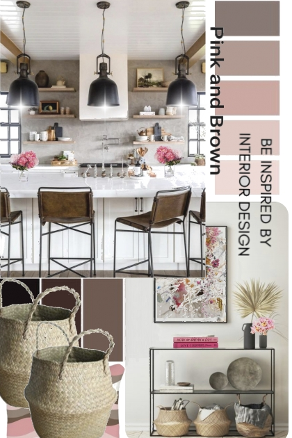 Pink and Brown Interior Design Colors