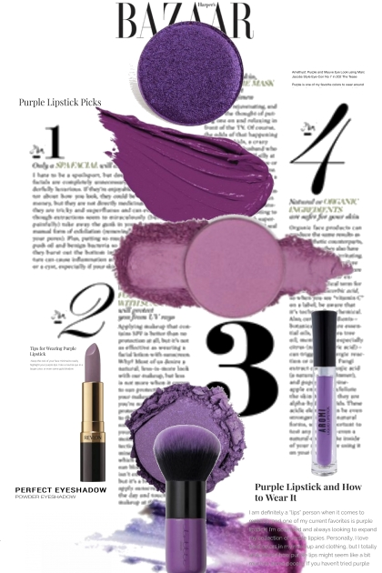 Bazaar Purple Beauty Trends