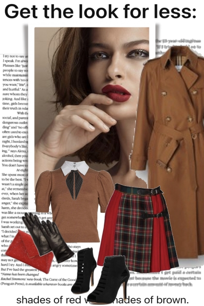 Get The Look Red and Brown
