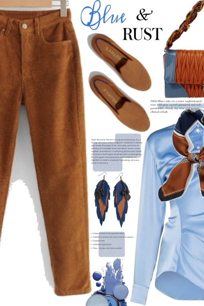 Blue and Rust For Fall