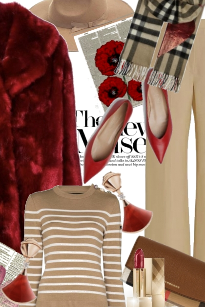 The New Muse in Red and Camel