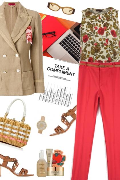 Linen Blazer- Fashion set