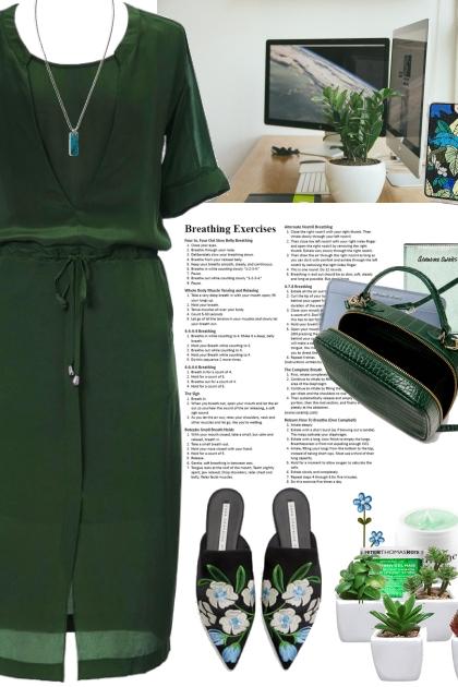New work week - Monday in green- Fashion set