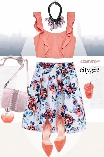 Summer city girl