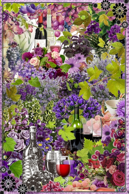 Grapes and flowers- Fashion set