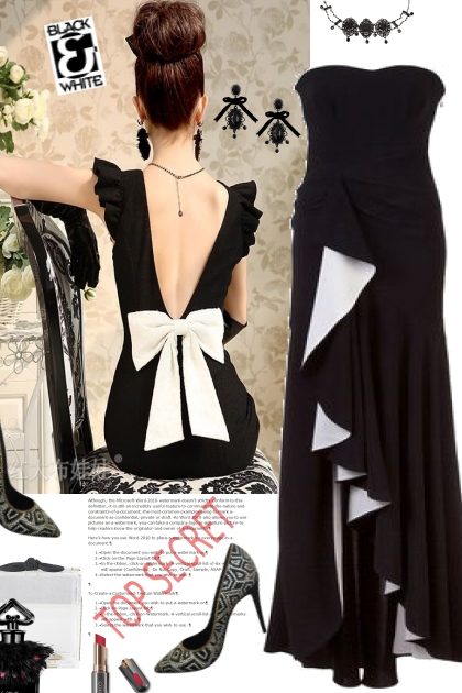 Black with white- Kreacja