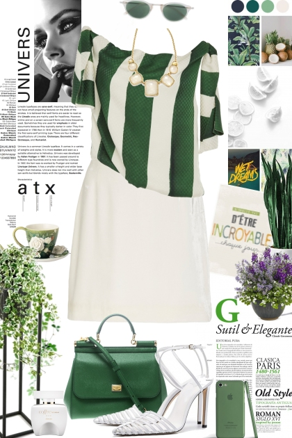 Green and White 19