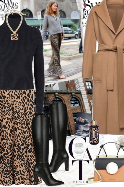Animal print skirt- Fashion set