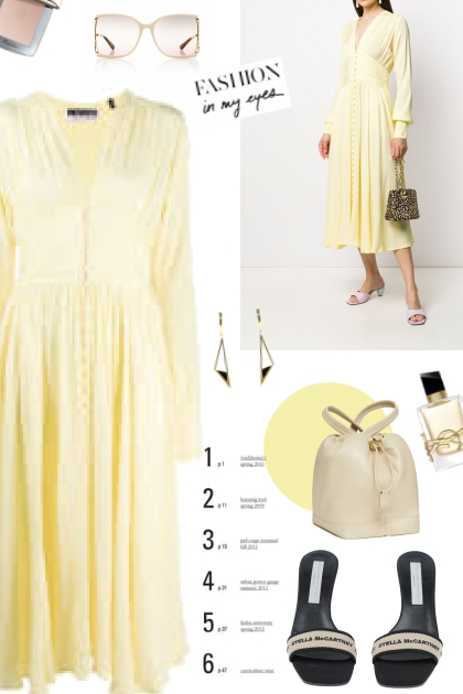 Yellow Dress #- Fashion set