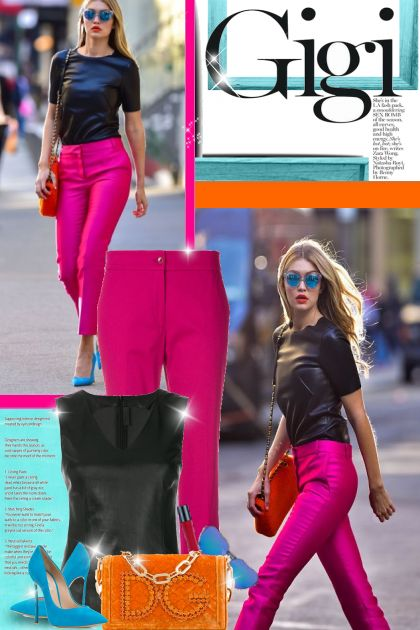 Gigi Hadid: Color Blocking