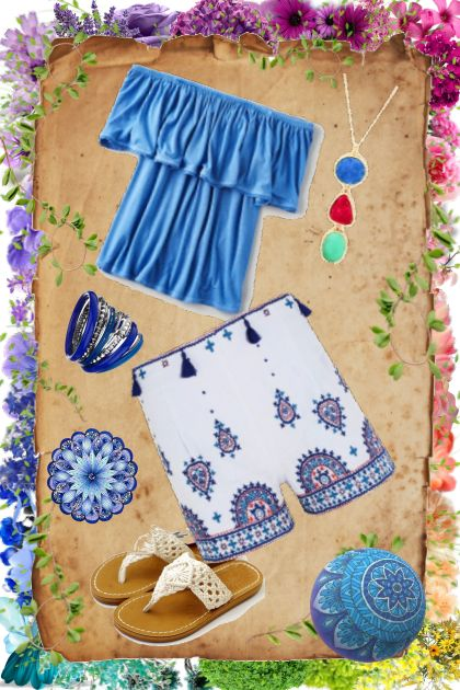 Boho Blue Spring- Fashion set