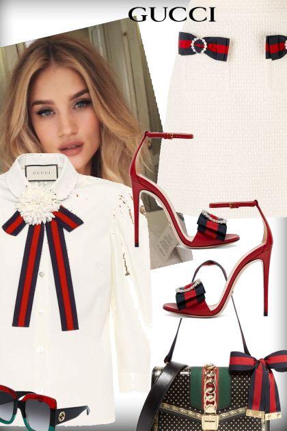 Rosie Huntington Tie Gucci