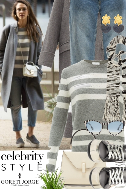 Street style - Jessica Alba- Combinaciónde moda