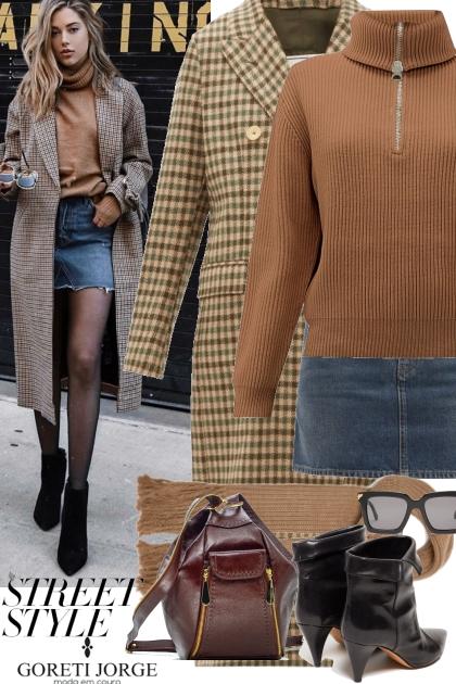 Casual plaid coat - street style- Modekombination