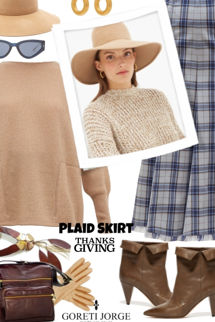 Plaid sirk - Thanksgiving- Fashion set