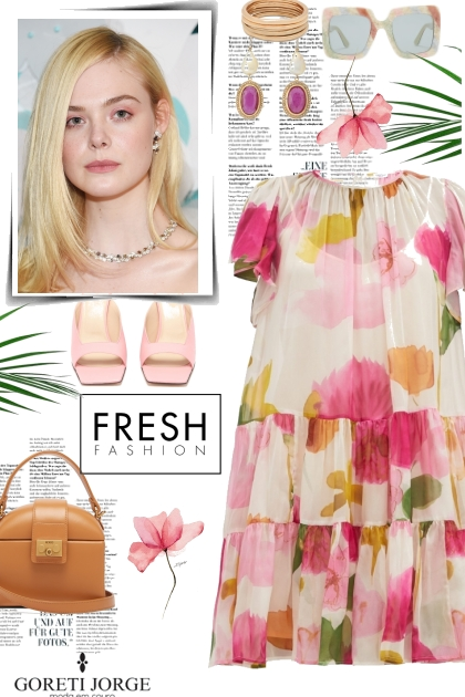Floral Fresh Dress- Fashion set