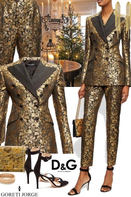 Dolce & Gabbana Floral-lamé jacquard