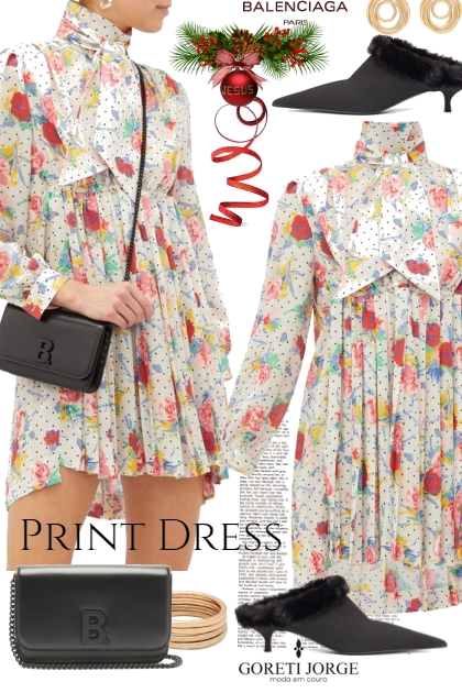 Print dress - Time christmas
