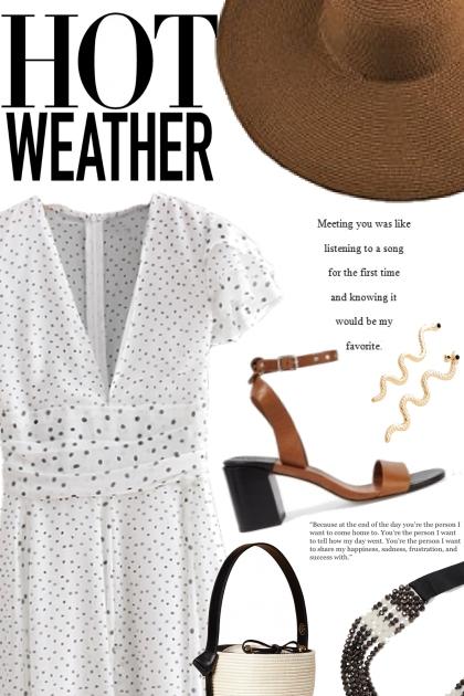 Modern Day Girl in Polka Dot Dress