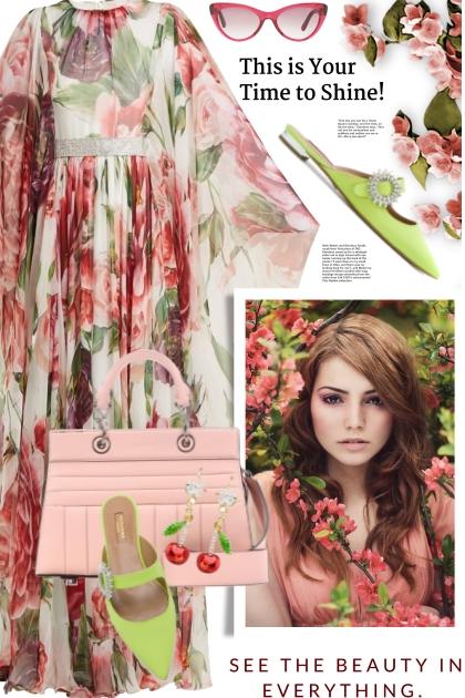 Dolce & Gabbana silk chiffon dress