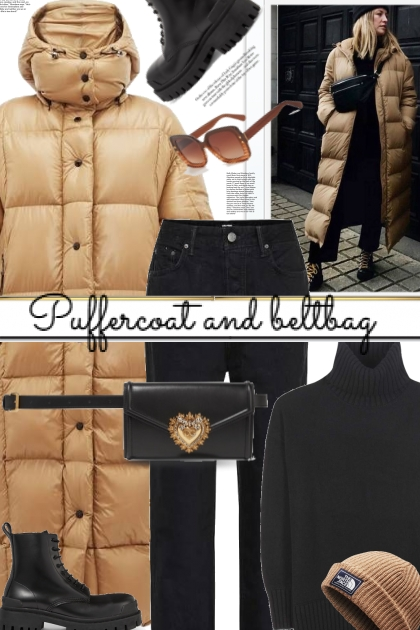 Puffercoat and beltbag