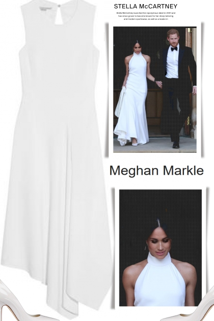Meghan Markle - second wedding dress, made by