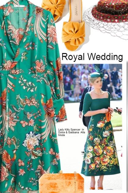 Lady Kitty Spencer In Dolce & Gabbana Alta Moda