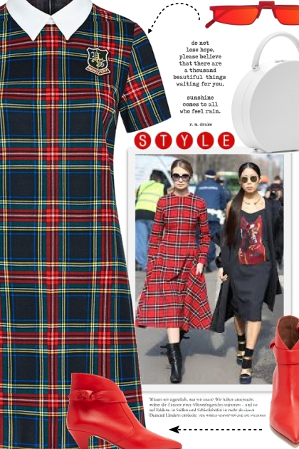 How to Style Plaid Dress