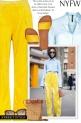 NYFW - Yellow velvet pants