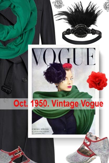 Oct. 1950. Vintage Vogue
