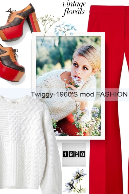 Twiggy -1960'S mod FASHION