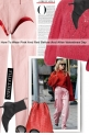 How To Wear Pink And Red Before And After Valentin