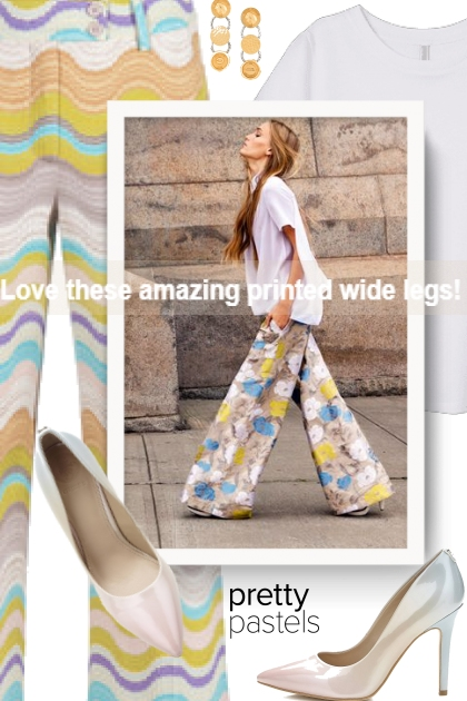 Love these amazing printed wide legs!
