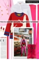 How to wear red and pink together in fall/winter