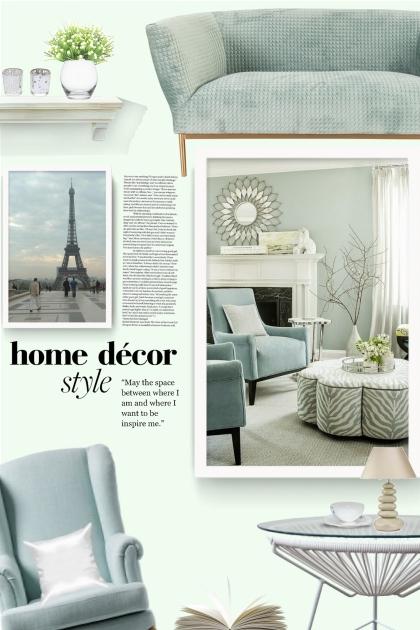 Serene blue living room