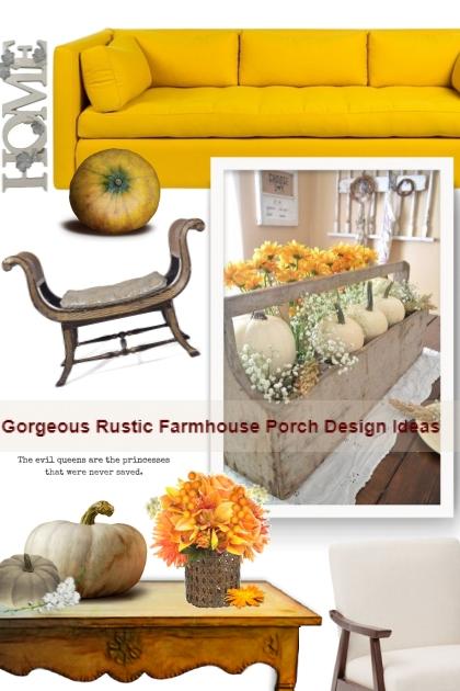 Gorgeous Rustic Farmhouse Porch Design Ideas