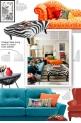 Vintage Style living room in a bold Color palette