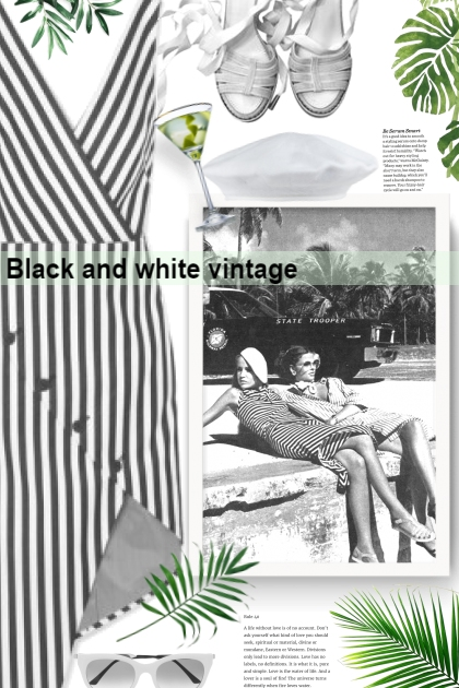 Black and white vintage