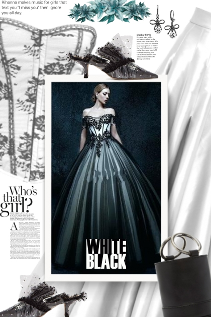 Black and white - ball gown