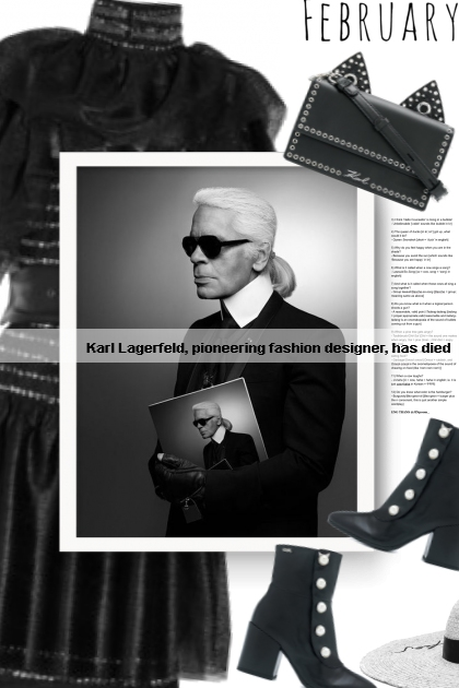 Karl Lagerfeld, pioneering fashion designer, has d