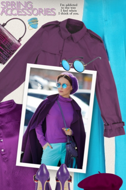 purple colors outfits